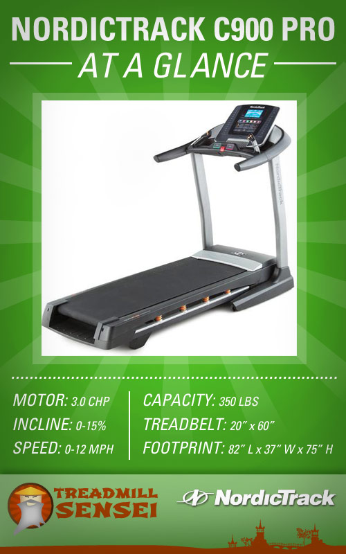 NordicTrack C900 Pro at a glance